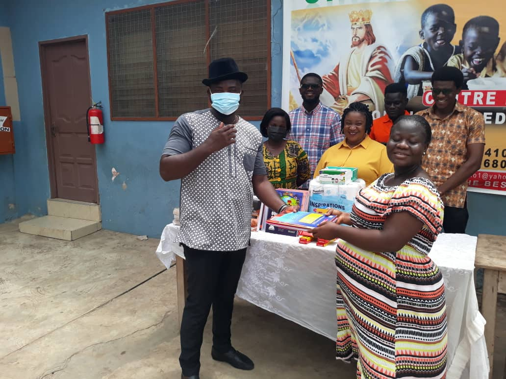 Ghana Association of Writers touch kids at the King Jesus Charity home